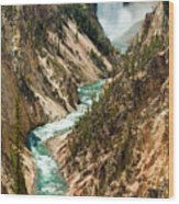 Yellowstone Waterfalls Wood Print
