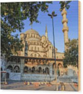 Yeni Cami , New Mosque , In The Morning, Istanbul, Turkey. Wood Print