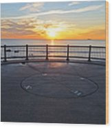 Yes, The Sun Rises To The East Red Rock Park Lynn Shore Drive Wood Print