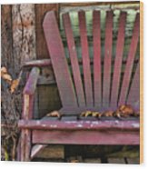 Yesterday's Chair Wood Print