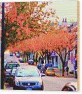 Yew Street Autumn Wood Print