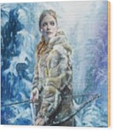 Ygritte The Wilding Wood Print