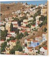 Yialos Town On Symi Island Wood Print