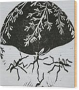 Yin Yang Wood Print by Pati Hays