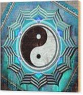 Yin Yang -  The Healing Of The Blue Chakra Wood Print