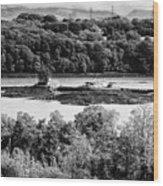 Ynys Gored Goch Island In The Menai Strait North Wales Uk Wood Print