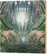 Yo Moss Wood Print