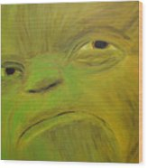 Yoda Selfie Wood Print