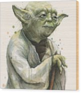 Yoda Portrait Wood Print