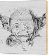 Yoda's Back Garden Wood Print