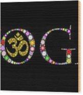 Yoga Aum Wood Print