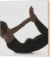 Yoga Bow Pose Wood Print