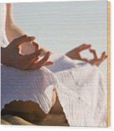Yoga Wood Print