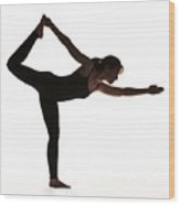 Yoga Pose King Dancer Wood Print