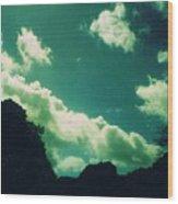 Yon Sky Wood Print