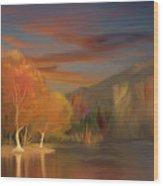 Yorba Linda Lake By Anaheim Hills Wood Print