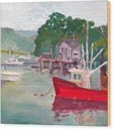 York Harbor Wood Print