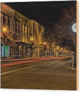 York South Carolina Downtown During Christmas Wood Print