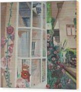 York Window Wood Print