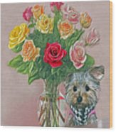 Yorkey Rose Wood Print