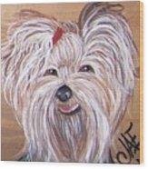 Yorkie Smiles Wood Print