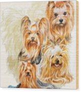 Yorkshire Terrier W/ghost Wood Print