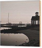 Yorktown Marina Morning Wood Print