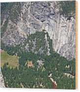 Yosemite Aerial View - California Wood Print