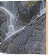 Yosemite Cascade Wood Print