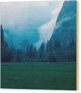 Yosemite Clouds II Wood Print