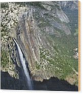 Yosemite Falls And Valley From Eagle Tower Detail - Yosemite Wood Print