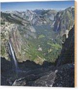 Yosemite Falls And Valley From Eagle Tower - Yosemite Wood Print