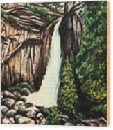 Yosemite Falls Wood Print
