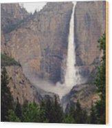 Yosemite Falls Vertical Wood Print