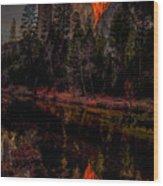 Yosemite Firefall 2015 Wood Print
