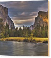 Yosemite- Gates Of The Valley Wood Print