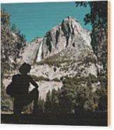 Yosemite Hiker Wood Print