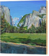 Yosemite National Park In The Spring Wood Print