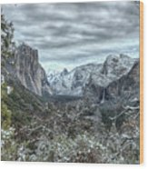 Yosemite National Park Tunnel View  Wood Print
