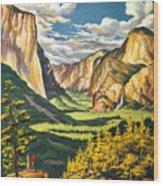 Yosemite Park Vintage Poster Wood Print