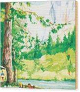 Yosemite Picnic Wood Print