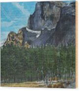 Yosemite Political Statement Wood Print