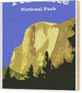 Yosemite Poster Wood Print