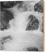Yosemite Raging River Stream Wood Print