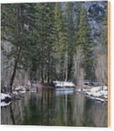 Yosemite Reflections Wood Print