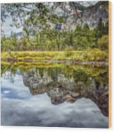 Yosemite Reflections Right Wood Print