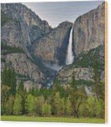 Yosemite Upper And Lower Falls Wood Print