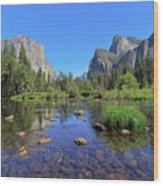 Yosemite Valley, California Wood Print