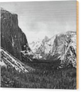 Yosemite Valley Not Clearing Winter Storm Wood Print