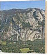 Yosemite Valley Panorama From Union And Glacier Points Wood Print